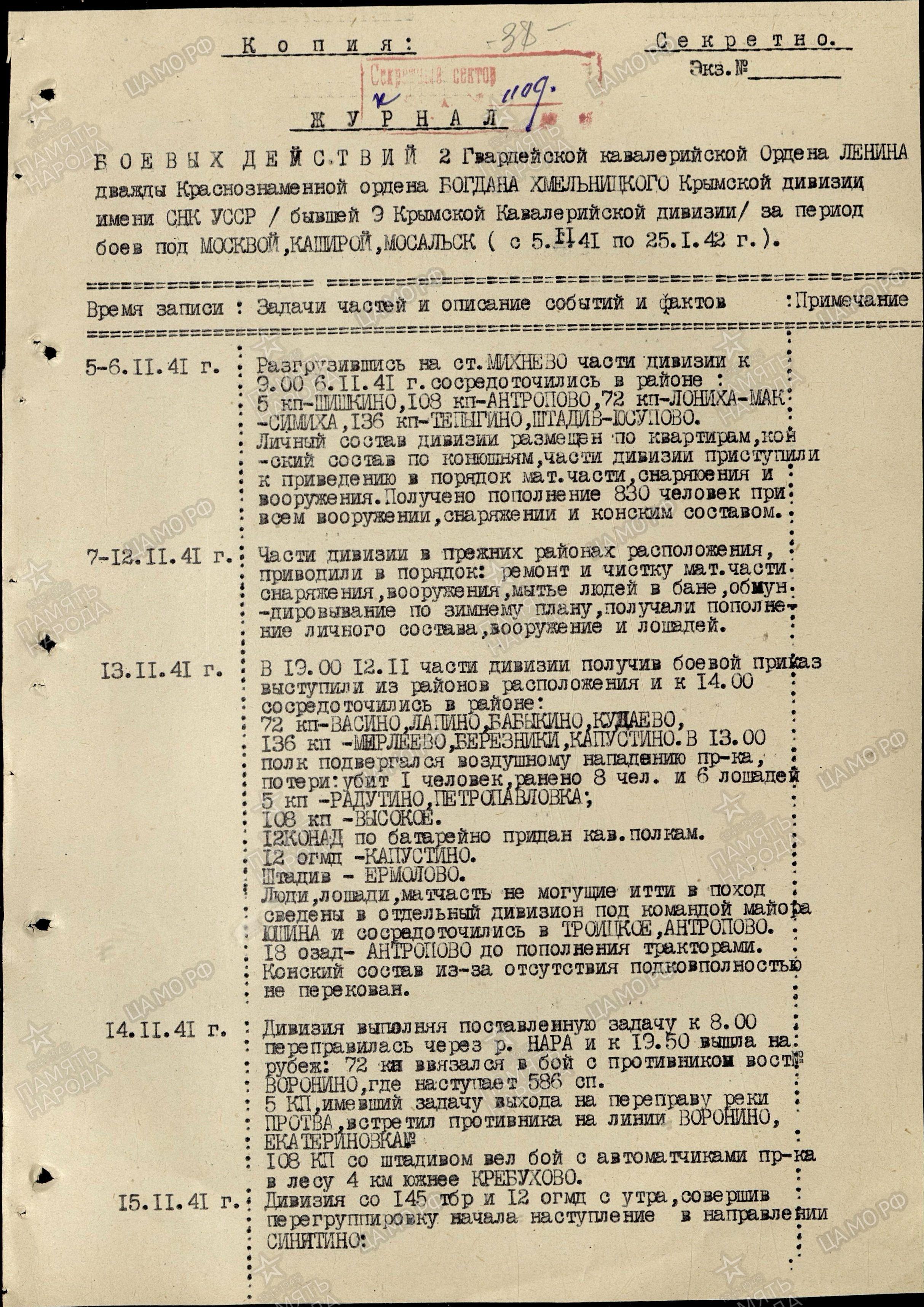 Сформирована в ноябре 1919 на базе конной группы под командованием м ф блинова как кавалерийская дивизия 9-й а