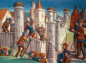 Осада Константинополя. Картина 1499 года