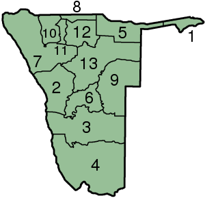 Файл:Namibia Regions numbered.png
