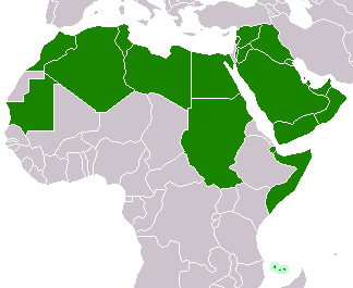 Файл:Map of League of Arab States countries.png