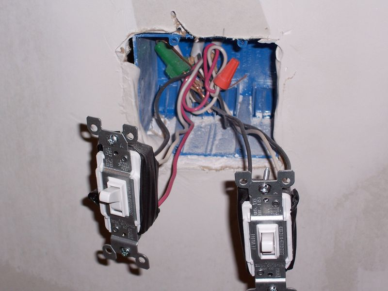 Файл:Dual light switches with exposed wiring.jpg