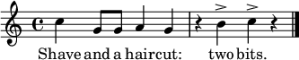 \relative c'' { \time 4/4 \key c \major 