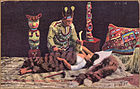 "Color post card. Indian witch doctor (""shaman"") healing a sick woman. - NARA - 297728.jpg"