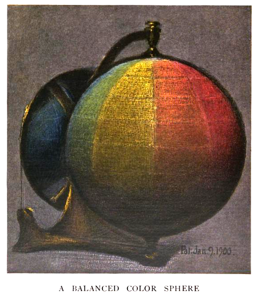 Файл:Munsell-23 color sphere.png