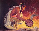 Eanger Irving Couse - Indian by Firelight.jpg