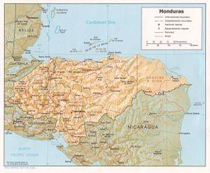 Карта Гондураса, где находится Гондурас на карте мира