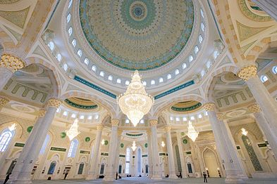 Interior View of Hazrat Sultan Mosque During Tour With Secretary Kerry (22708035065).jpg