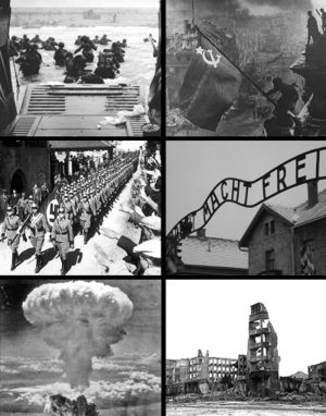 World War II montage image