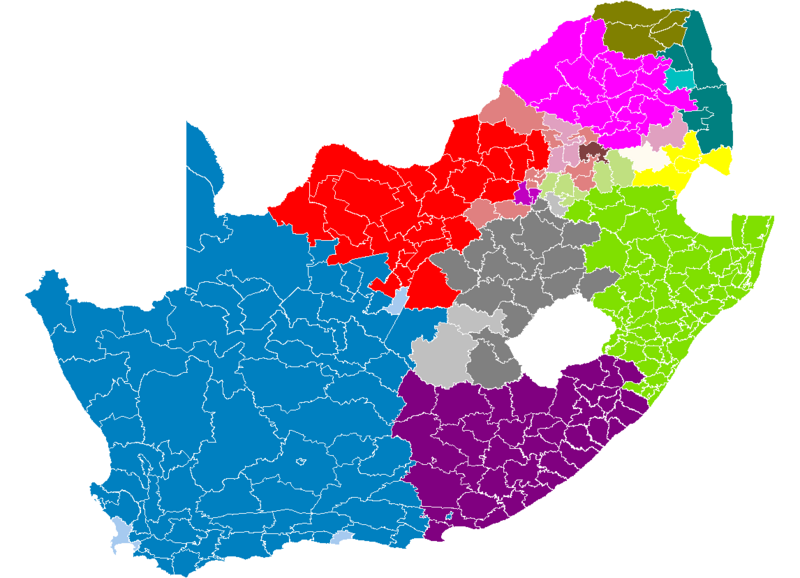 Файл:South Africa municipalities by language 2001.png